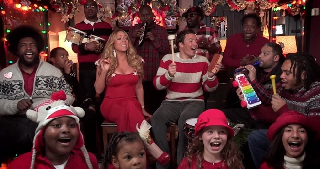 Jimmy fallon mariah carey the roots all i want for christmas is you