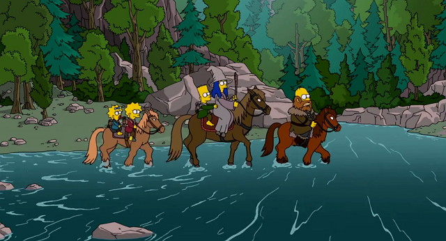 "Simpsons Couch Gag ""The Hobbit"""