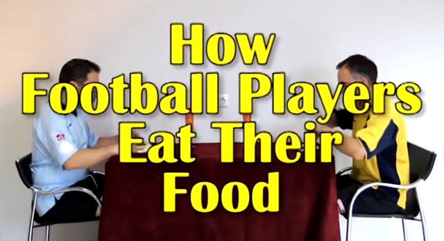 How Football Players Eat Their Food