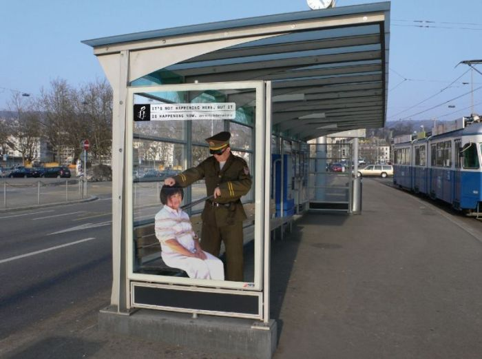 Eindrucksvolle Amnesty International Kampagne: It's not happening here. But it is happening now.