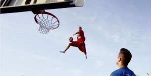 Lords of Gravity: Basketball Freestyle Dunks in Slow-Motion