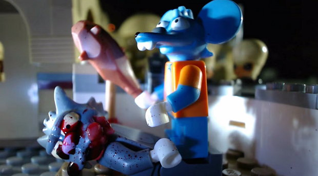 """Simpsons """"Itchy and Scratchy"""" als LEGO-Stop-Motion"""